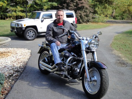 David on his 2007 HD Fat Boy